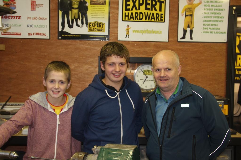 Eoin, Ronan und Conor McGarvey